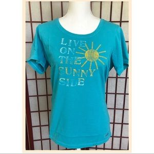 Life is Good Cotton Shirt Sunny Side Blue M
